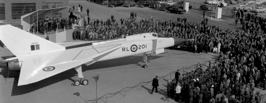 Archival photo of the Avro Arrow